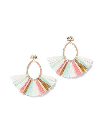 Multicolor Fan Tassel Drop Earring - New York & Company