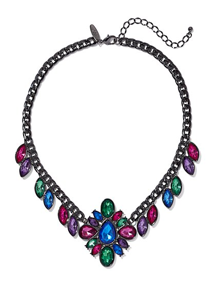 Multicolor Faux-Stone Collar Necklace - New York & Company