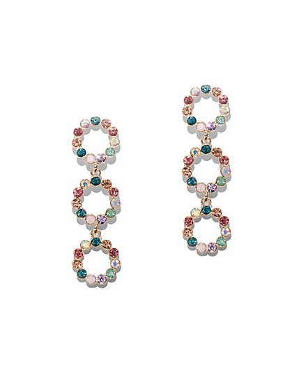 da125f712 Multicolor Faux-Stone Goldtone Drop Earring - New York & Company