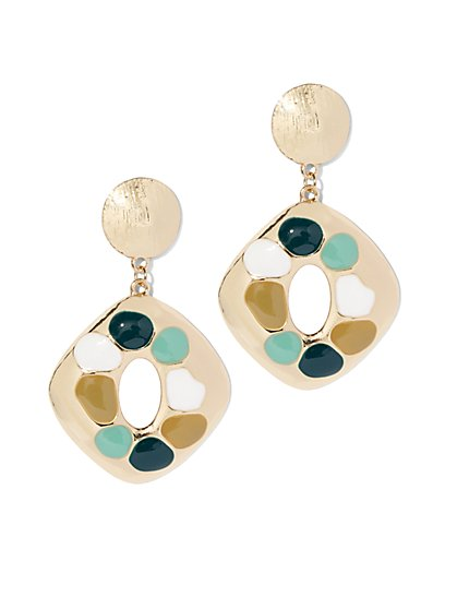 Multicolor Goldtone Drop Earring - New York & Company