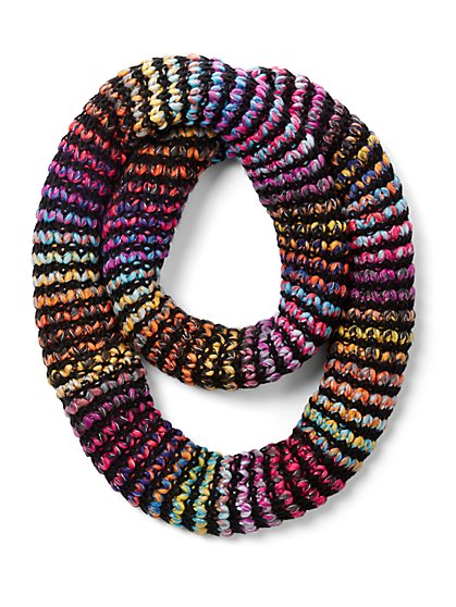 Multicolor Metallic Infinity Scarf - New York & Company