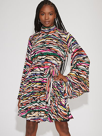 Multicolor Pleated Shift Dress - Gabrielle Union Collection - New York & Company