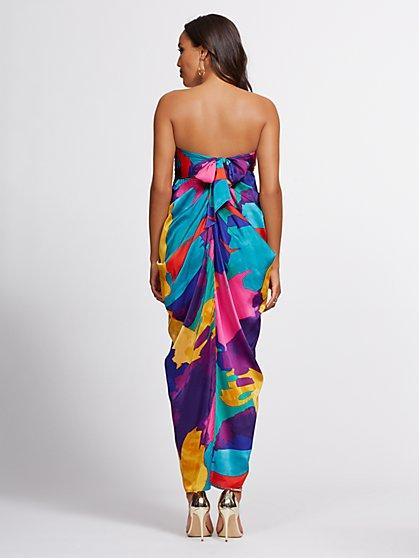 29dd9e5a29 ... Multicolor Strapless Maxi Dress - Gabrielle Union Collection - New York  & Company