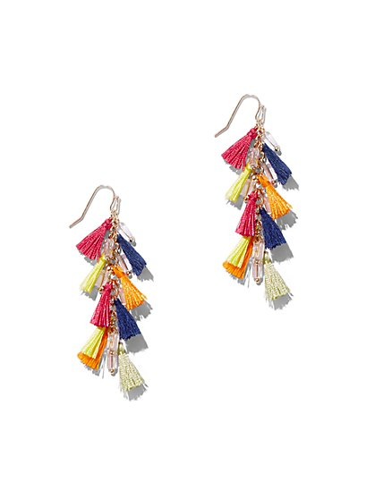 Multicolor Tassel Drop Earring - New York & Company