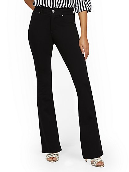 Mya Curvy High-Waisted Sculpting No Gap Bootcut Ponte Jeans - New York & Company