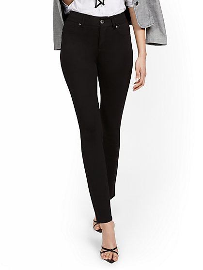 Mya Curvy High-Waisted Sculpting No Gap Super-Skinny Ponte Jeans - New York & Company