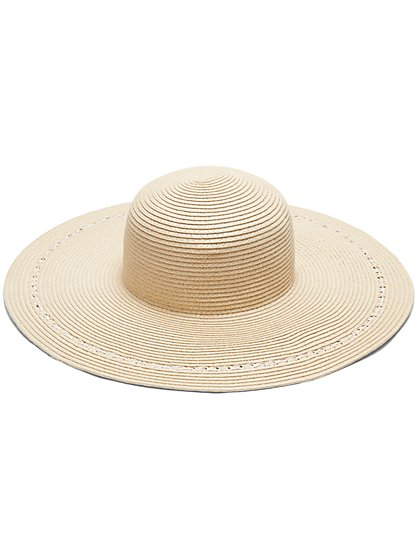 Natural Raffia Floppy Hat - New York & Company