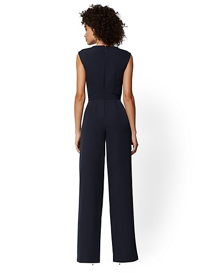a22c8b082fc7 ... Navy Button-Accent Jumpsuit - New York   Company