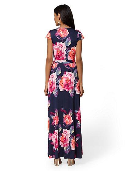 80fc6f5fefa ... Navy Floral Wrap Maxi Dress - New York   Company