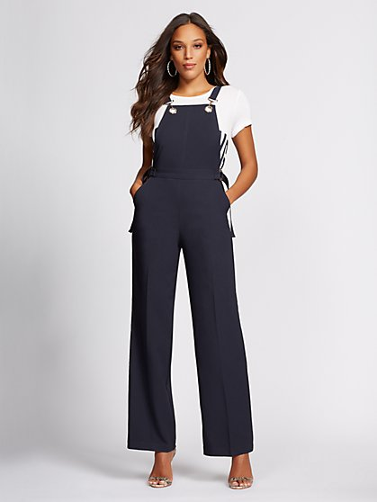 Navy Grommet-Accent Overall - Gabrielle Union Collection - New York & Company