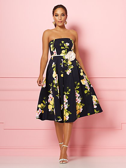 Navy Lemon Del Mar Dress - Eva Mendes Party Collection - New York & Company