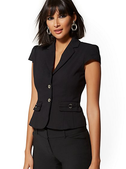 Navy Two-Button Jacket - 7th Avenue - New York & Company