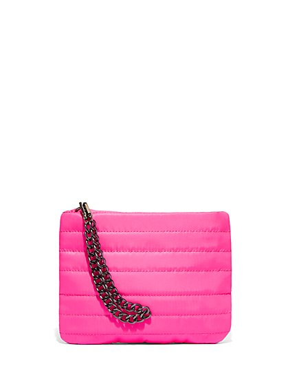 Neon Quilted Shoulder Bag - New York & Company