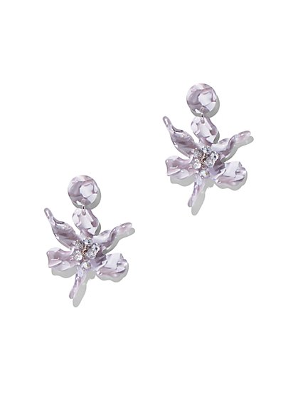 Neutral Floral Drop Earring - New York & Company