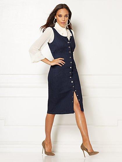 bd704d25e4 Norah Denim Sheath Dress - Eva Mendes Collection - New York   Company ...