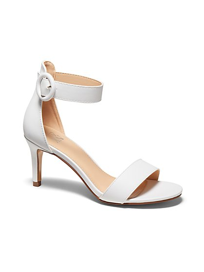 O-Ring Buckle Heel Sandal - New York & Company
