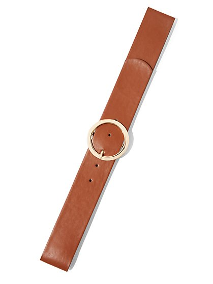 O-Ring Faux-Leather Belt - New York & Company