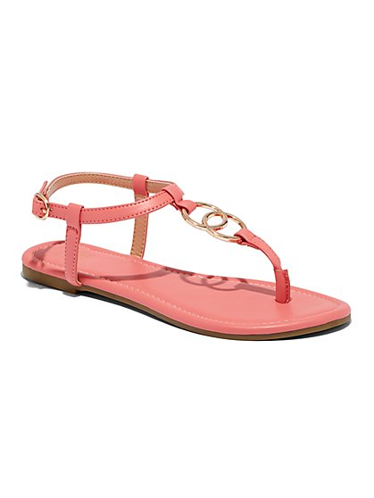 O-Ring T-Strap Sandal - New York & Company