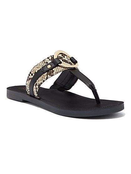 O-Ring Thong Sandal - New York & Company