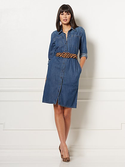 Oakley Denim Shirtdress - Eva Mendes Collection - New York & Company
