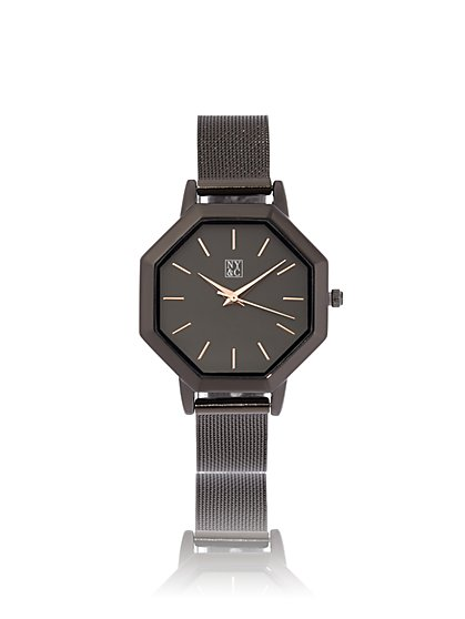 Octagon-Case Mesh Watch - New York & Company