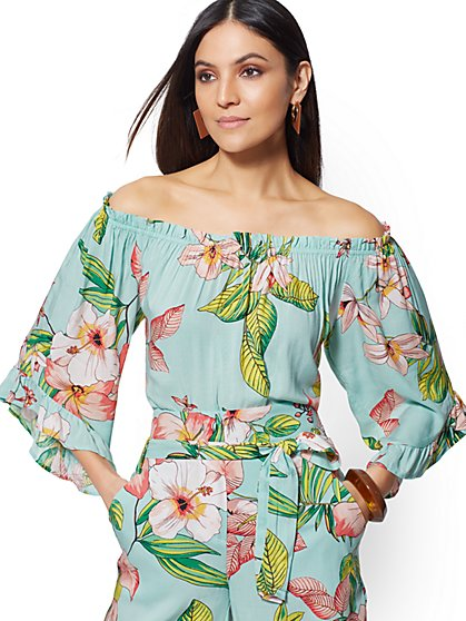 Off-Shoulder Ruffle Top - New York & Company