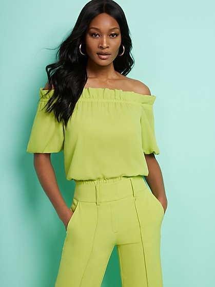 Off-The-Shoulder Blouse - 7th Avenue - New York & Company