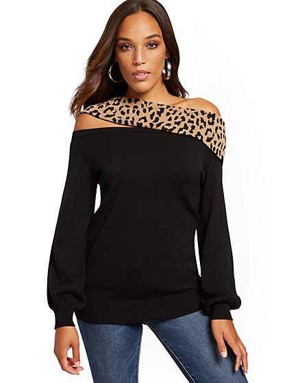 Off-The-Shoulder Cutout-Detail Sweater - New York & Company