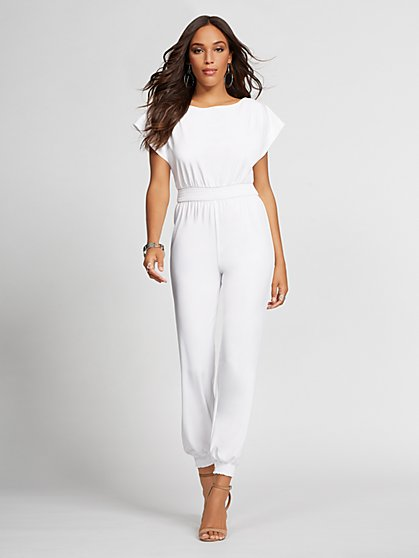 Off-The-Shoulder Jumpsuit - Gabrielle Union Collection - New York & Company