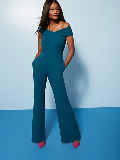 Off-The-Shoulder Jumpsuit - Magic Crepe® - New York & Company