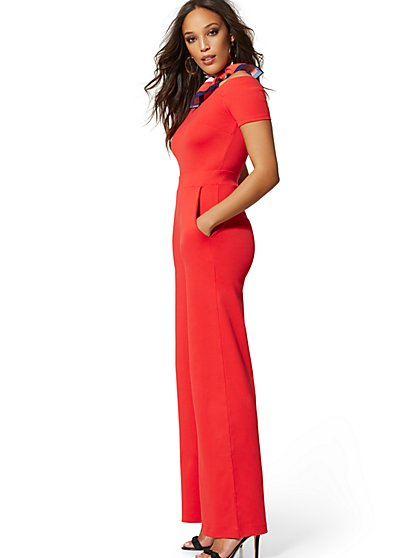 87e06843fdb Off-The-Shoulder Jumpsuit - New York   Company ...