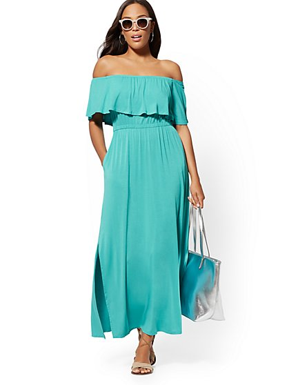 Off-The-Shoulder Maxi Dress - Soho Street - New York & Company