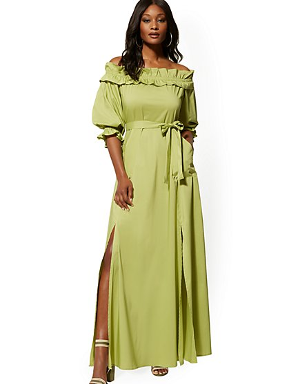 c0337cfcb4b8 Off-The-Shoulder Maxi Dress - New York & Company ...