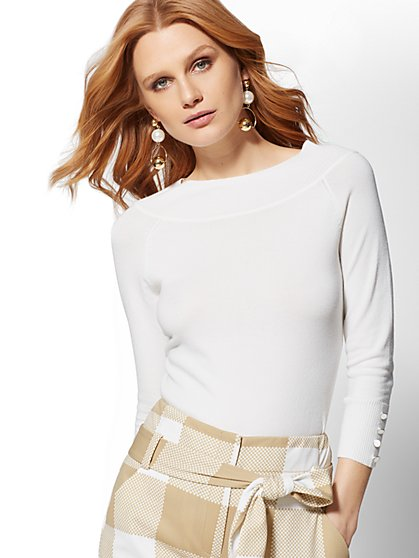 Off-The-Shoulder Sweater - 7th Avenue - New York & Company
