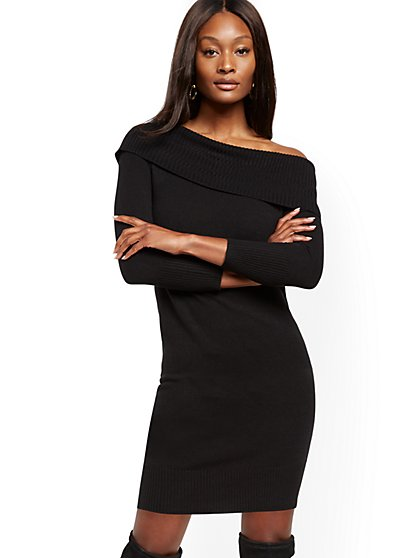 Off-The-Shoulder Sweater Dress - New York & Company