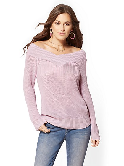 Off-The-Shoulder Sweater - New York & Company