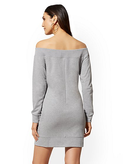 ac4573d2adc ... Off-The-Shoulder Sweatshirt Dress - Soho Street - New York   Company