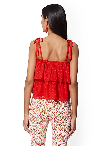 5f68c0a051a6c ... Off-The-Shoulder Tiered Blouse - 7th Avenue - New York   Company ...