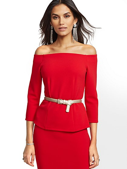 Off-The-Shoulder Top - 7th Avenue - New York & Company