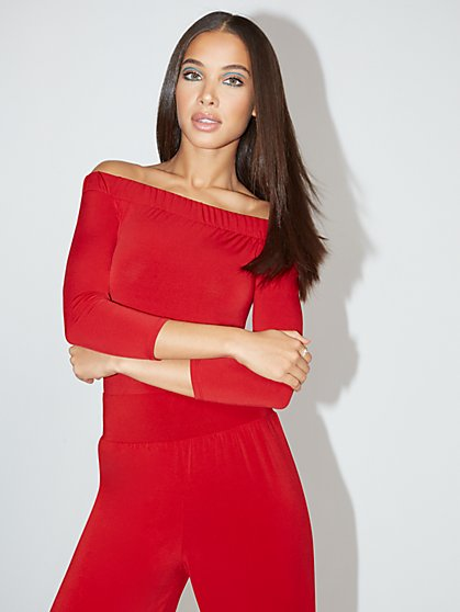 Off-the-Shoulder Body Suit - NY&C Style System - New York & Company