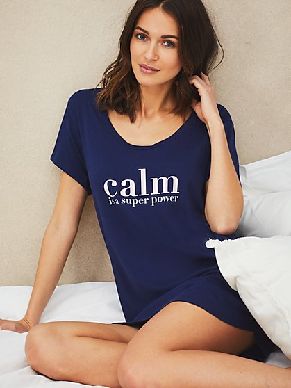Offline with Us Sleepshirt - New York & Company