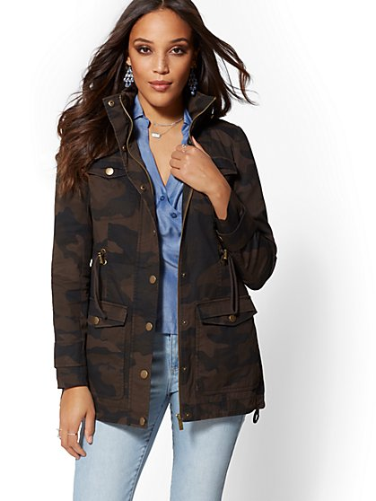 Olive Anorak Jacket - New York & Company