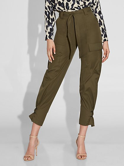 Olive Belted Cargo Pant - Gabrielle Union Collection - New York & Company