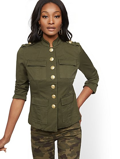 Olive Cadet Jacket - New York & Company