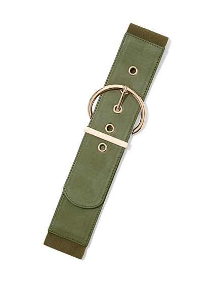 Olive D-Ring Belt - New York & Company