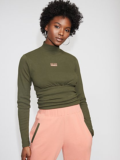 Olive Mock-Neck Top - Gabrielle Union Collection - New York & Company