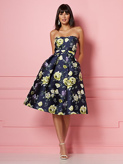 Olympia Strapless Jacquard Dress - Eva Mendes Party Collection - New York & Company