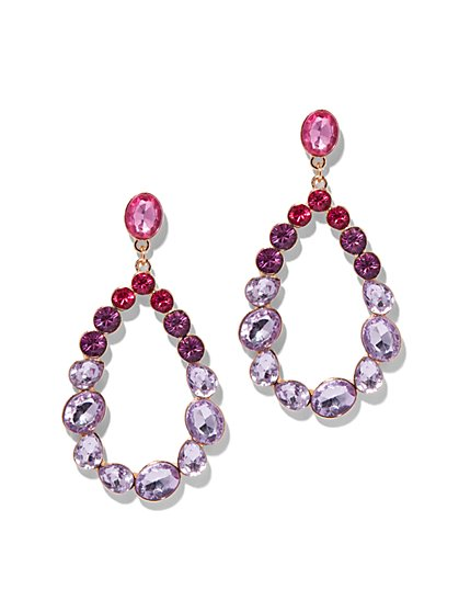 Ombre Faux-Stone Oval Drop Earring - New York & Company