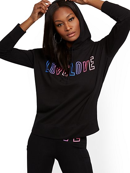 "Ombre ""Love"" Hooded Sweatshirt - Soho Street - New York & Company"