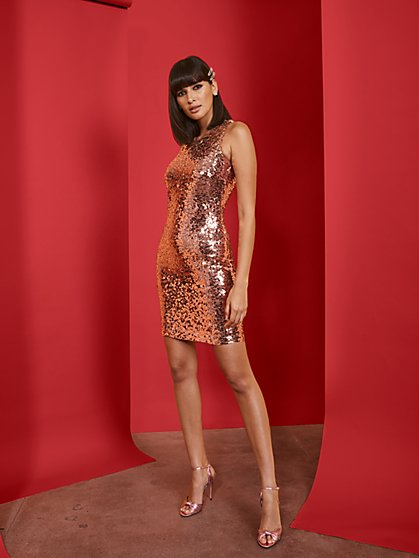 Ombre Sequin Sheath Dress - New York & Company